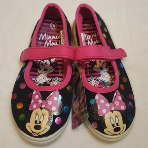 Minnie Mouse Disney little girl size 10 shoe NWT